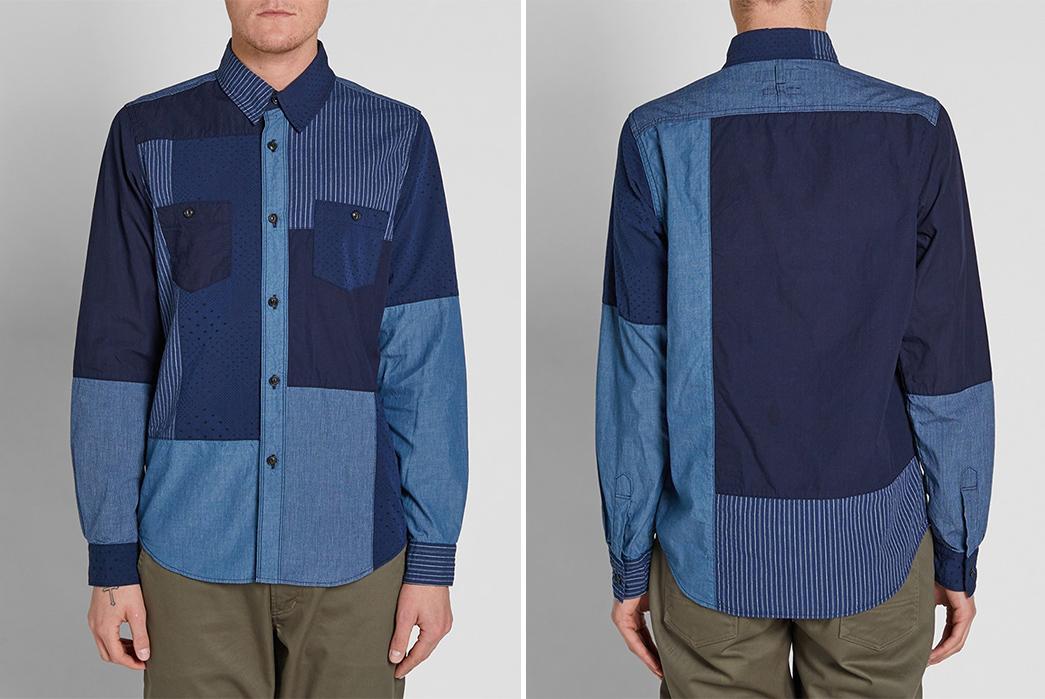 FDMTL-Boro-Patchwork-Shirt-model-front-back