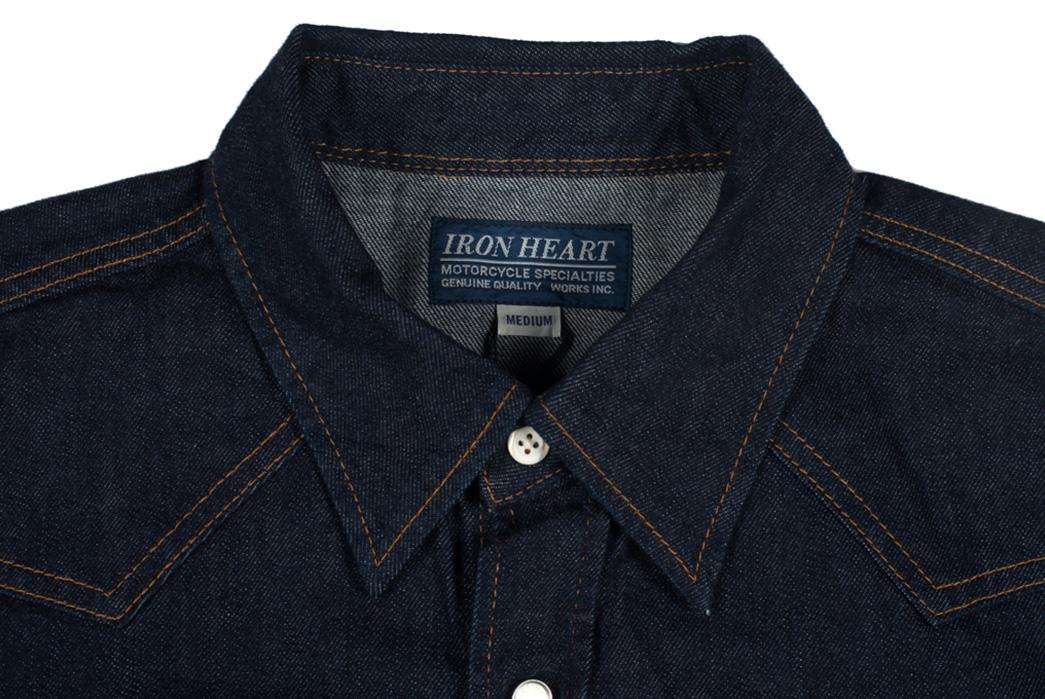 Iron-Heart-7oz.-Selvedge-Denim-Sawtooth-Shirt-front-collar