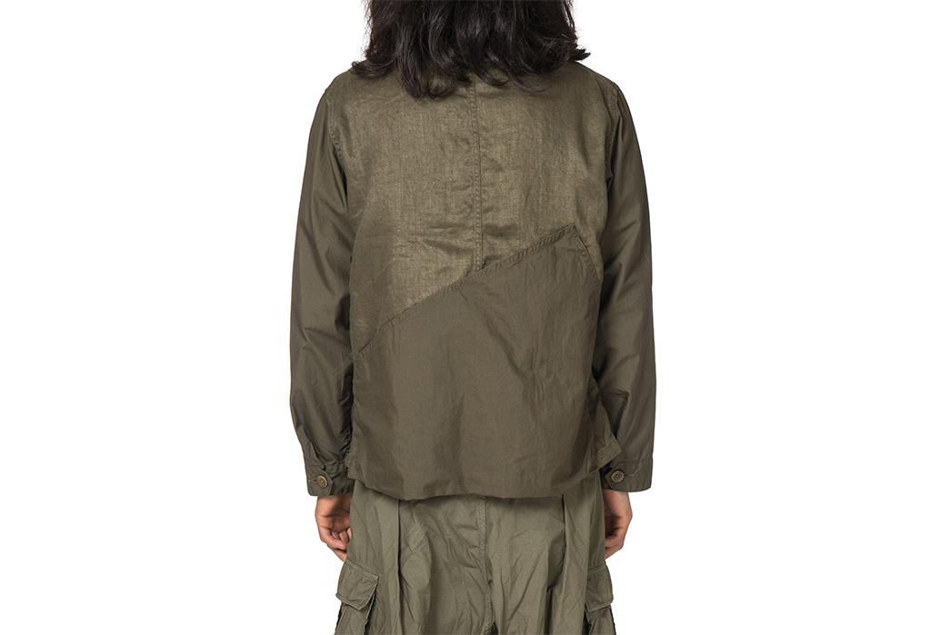 Kapital-Linen-Chino-Cloth-and-Gabardine-Ringoman-Coverall-Jacket-model-back