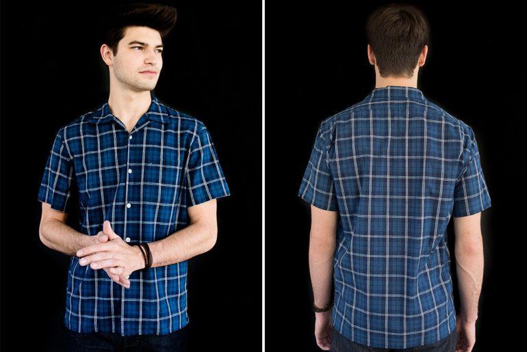 Knickerbocker-MFG-Co.-4oz.-Japanese-Indigo-Plaid-Dude-Shirt-front-back