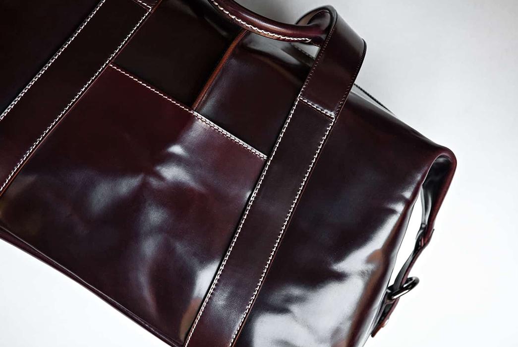 Kreis-Shell-Cordovan-Duffle-Bag-front-detalied
