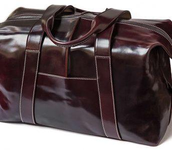 Kreis-Shell-Cordovan-Duffle-Bag-front-side