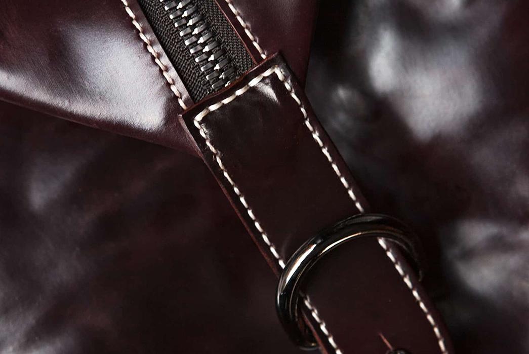 Kreis-Shell-Cordovan-Duffle-Bag-zipper-and-buckle