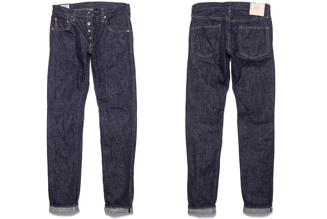 Oni-x-Blue-in-Green-ONI-612XXBIG-16.5oz-Relaxed-Slim-Taper-Ltd-Ed.-Jeans-front-back
