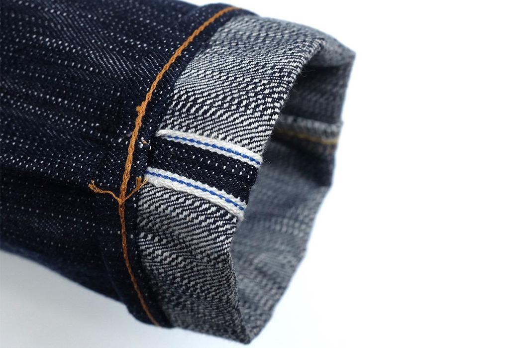 Pure-Blue-Japan-AI-003-17.5oz.-Aizome-Slim-Tapered-Jeans-leg-selvedge