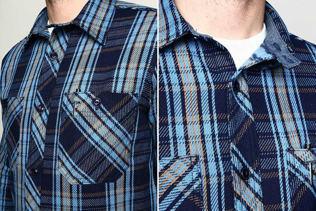 BM Work Shirt // Brushed Indigo Plaid - Rogue Territory