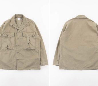 Slow-Green-Used-Herringbone-US-Army-Jacket-front-back