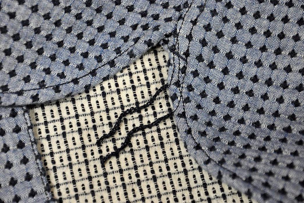 Studio-D'Artisan-Sashiko-Nel-Shirt-detalied-selvedge