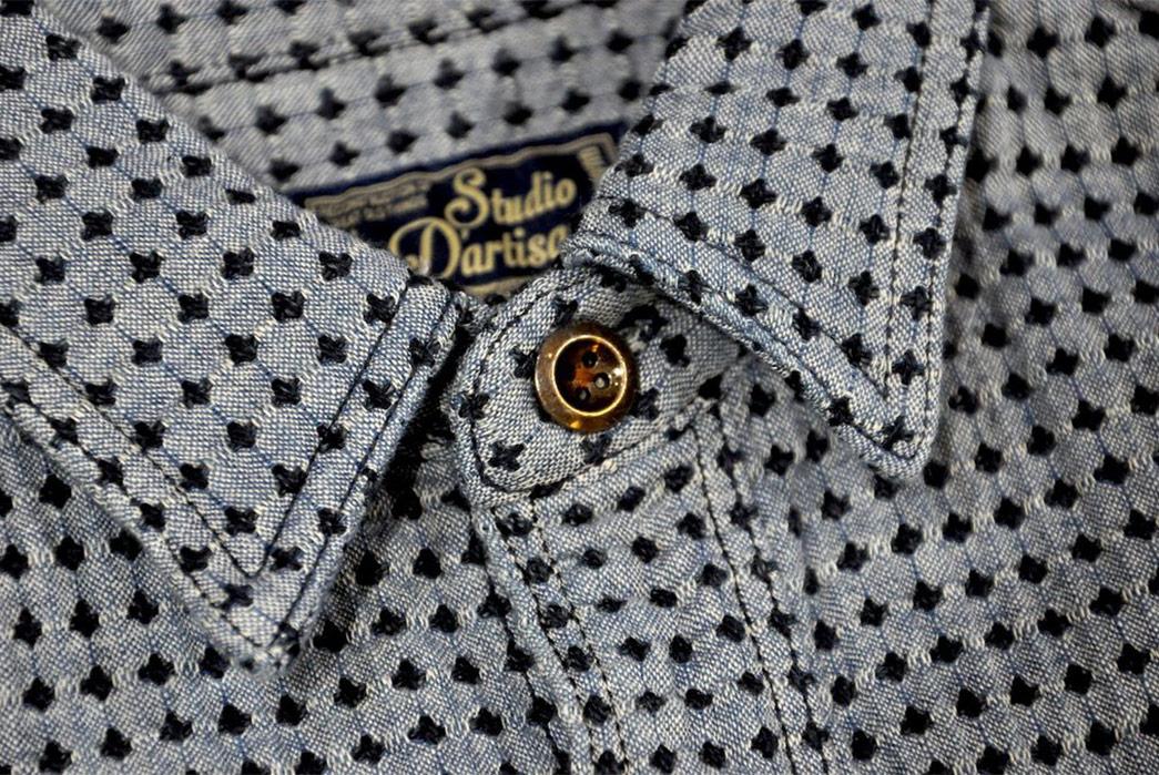 Studio-D'Artisan-Sashiko-Nel-Shirt-front-collar