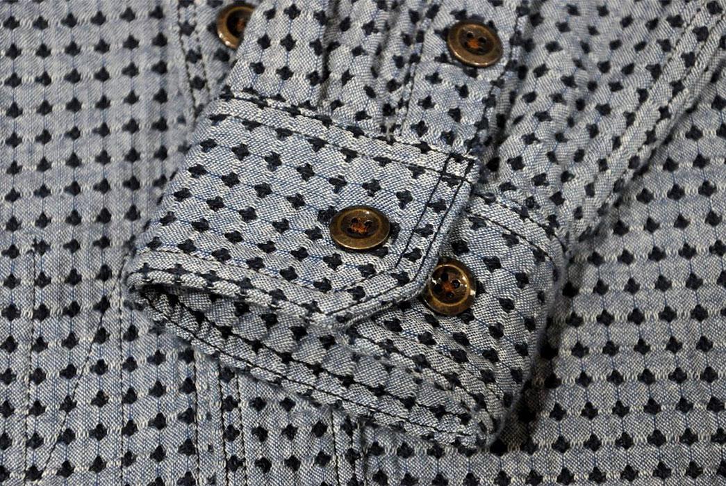 Studio-D'Artisan-Sashiko-Nel-Shirt-front-sleeve-detalied