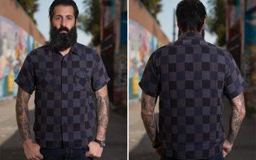 Sugar-Cane-Prizm-Fear-Dice-Weave-Short-Sleeve-Shirt-model-front-back