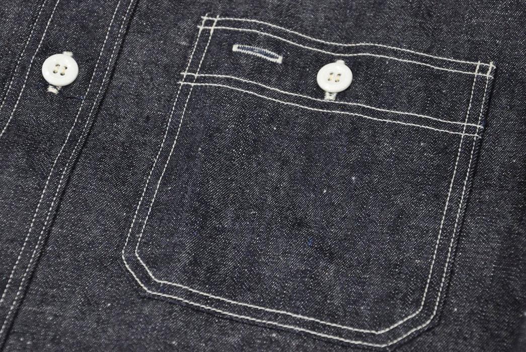 Warehouse-8.5oz-Nep-Denim-Workshirt-front-pocket