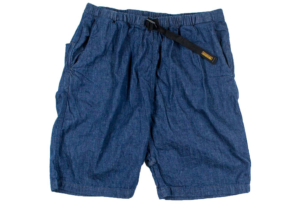 Boulder-Your-Blues-Away-with-orSlow's-Denim-Climbing-Shorts-front