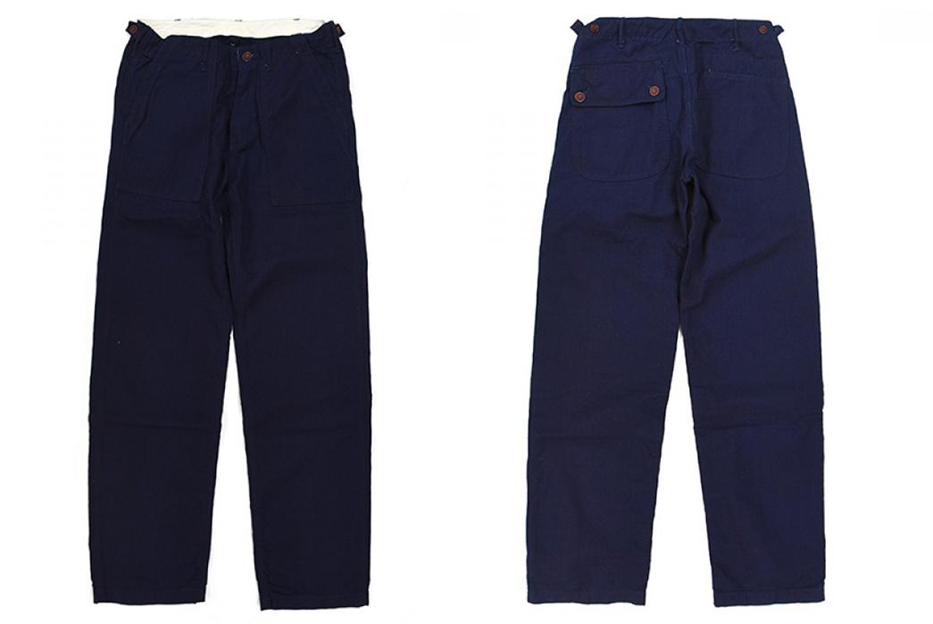 Chambray-Pants---Five-Plus-One-4)-Studio-d'Artisan-1731BIND-Mr.-Field-Baker-Pants-front-back