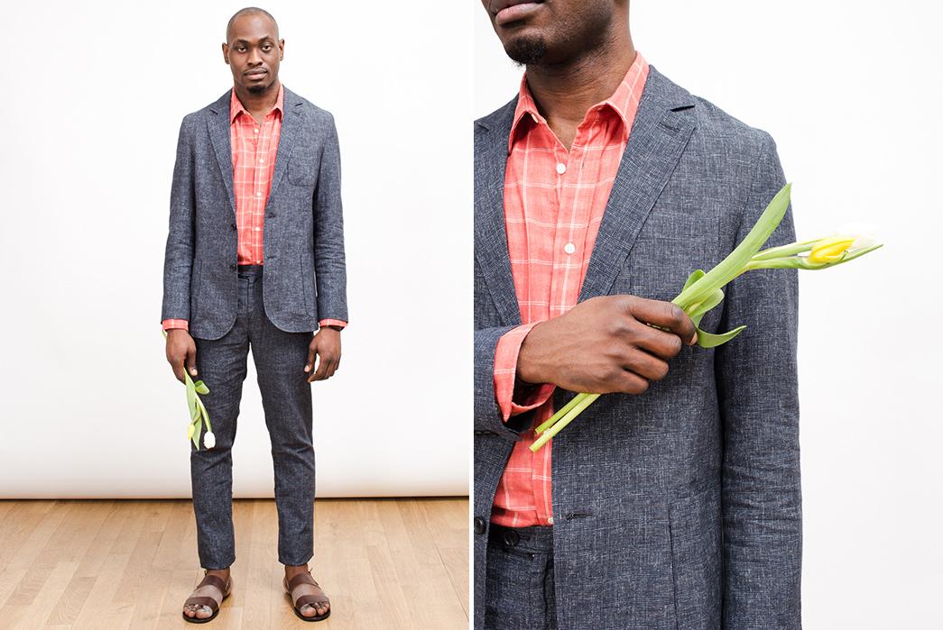 Corridor-Spring-Summer-2017-Lookbook-male-in-grey-suit-and-flower