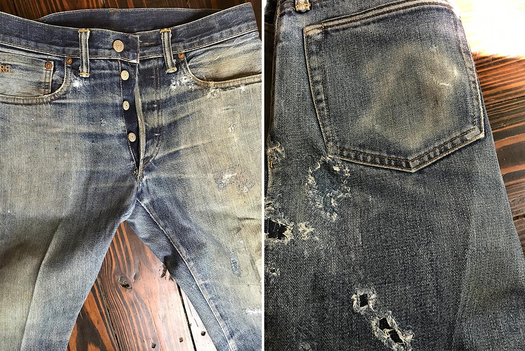 Fade-of-the-Day---RRL-Slim-Fit-Rigid-Raw-(3-Years,-1-Wash,-1-Soak)-front-top-and-back-pocket
