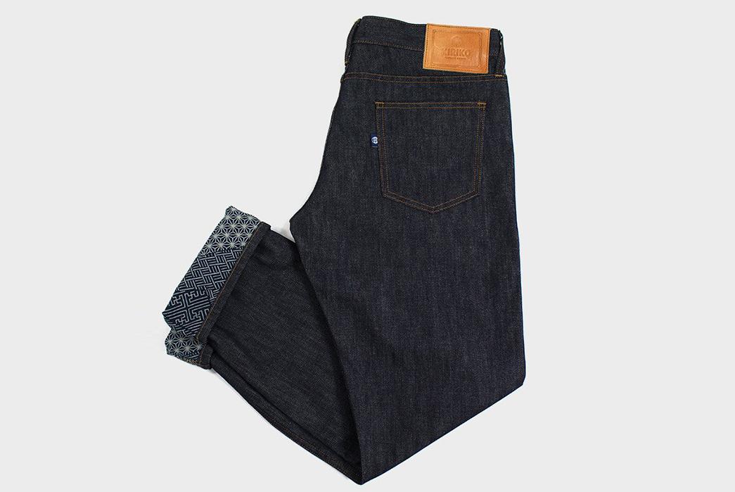Kiriko-Fuses-Traditional-Japanese-Fabrics-With-Traditional-American-Denim-folded