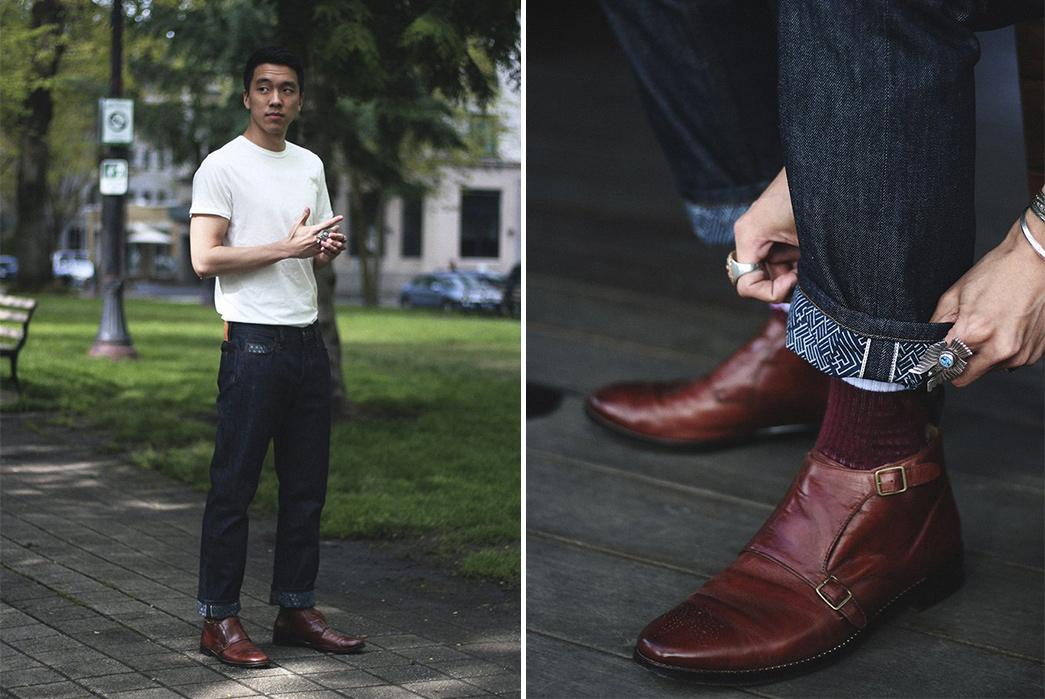 Kiriko-Fuses-Traditional-Japanese-Fabrics-With-Traditional-American-Denim-model