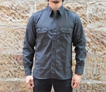 Momotaro-12oz-Wabash-Jacketed-Shirt-model-front