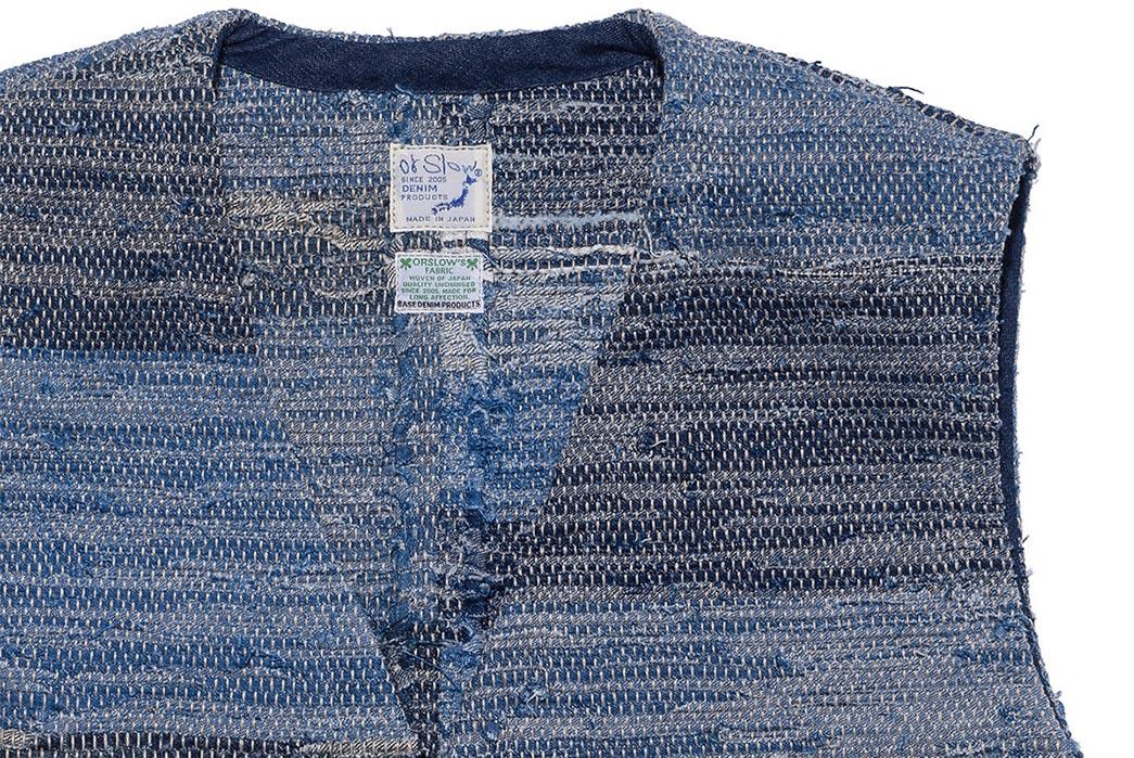 orSlow's-Super-Thick-Indigo-Sakiori-Vest-detailed