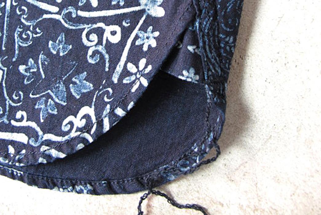 Pure-Blue-Japan-Paisley-Discharge-Print-Deep-Indigo-Short-Sleeve-Shirt-selvedge