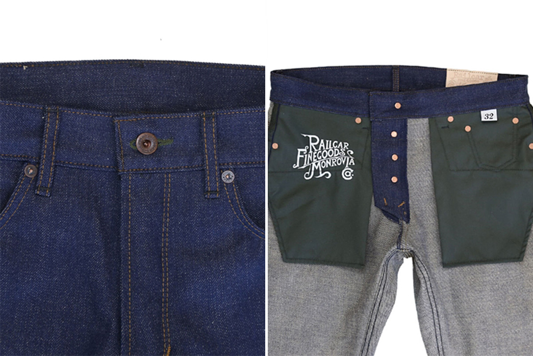 Railcar-Fine-Goods-Goes-Green-With-Their-Spikes-X039-Jean,-Blending-Cotton-and-Hemp-front-outside-and-inside