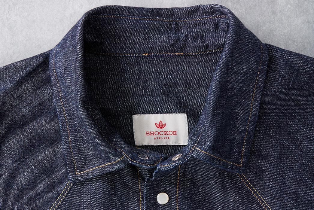 Shockoe-Atelier-Selvedge-Denim-Western-Shirt-collar