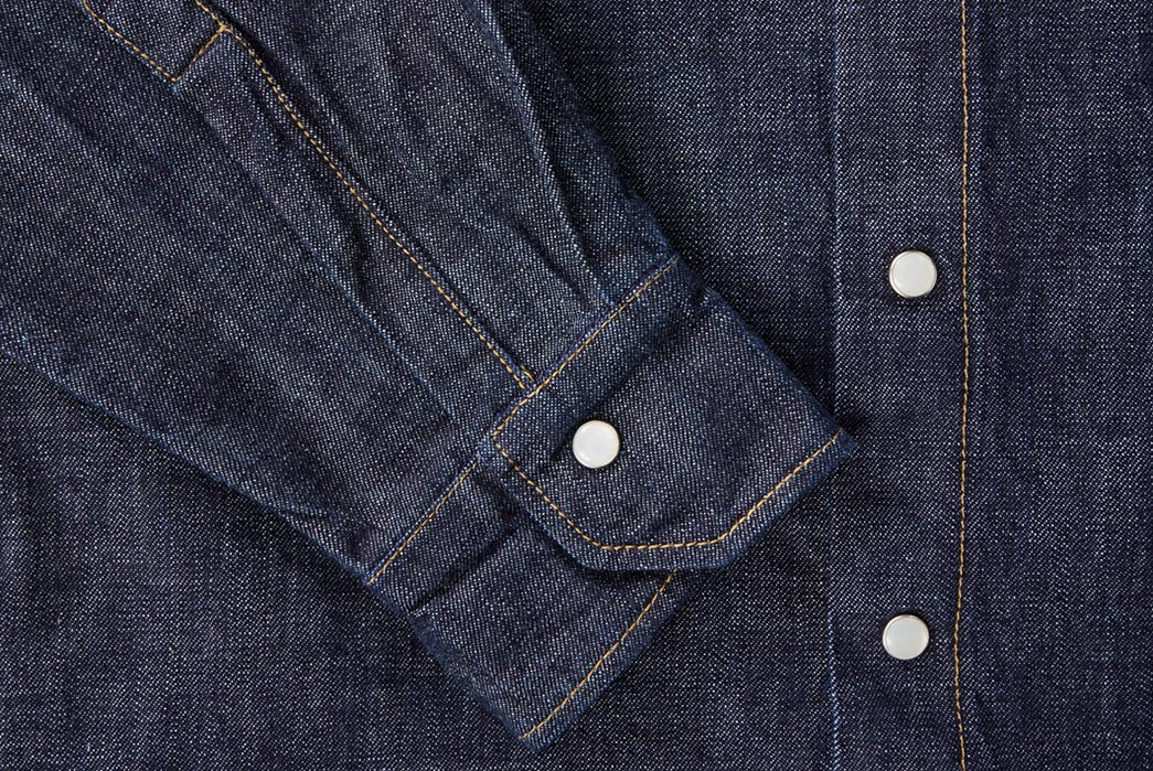 Shockoe-Atelier-Selvedge-Denim-Western-Shirt-sleeve