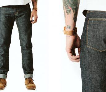 Shockoe-Atelier-Slim-Dixon-10oz.-Kuroki-Mills-Selvedge-Jeans-front-and-back-detailed