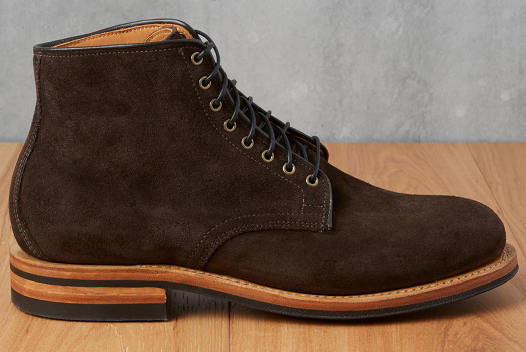 Viberg-2030-Dainite-Arabica-Calf-Suede-Derby-Boot-single-side