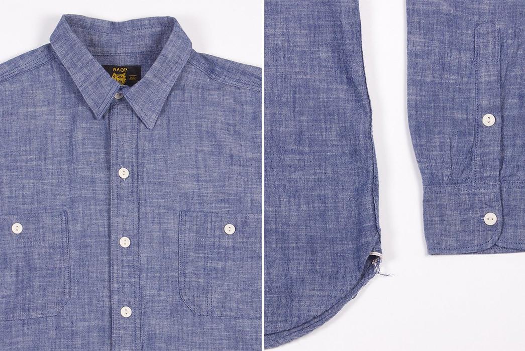 Dickies-1922-x-NAQP-Japanese-Selvedge-Chambray-Work-Shirt-detailed