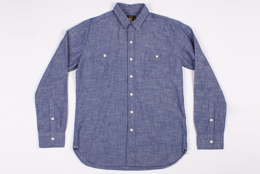 Dickies-1922-x-NAQP-Japanese-Selvedge-Chambray-Work-Shirt-front