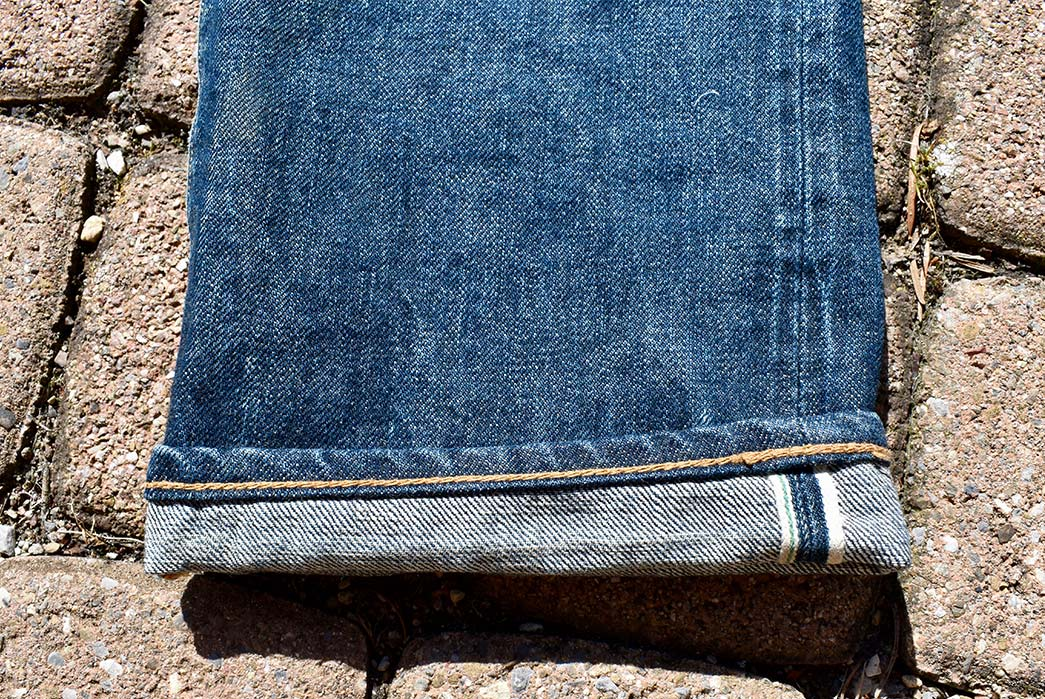Fade-of-the-Day---Stevenson-Overall-Co.-Santa-Rosa-767-RXX-(1.5-Years,-7-Washes)-leg-selvedge