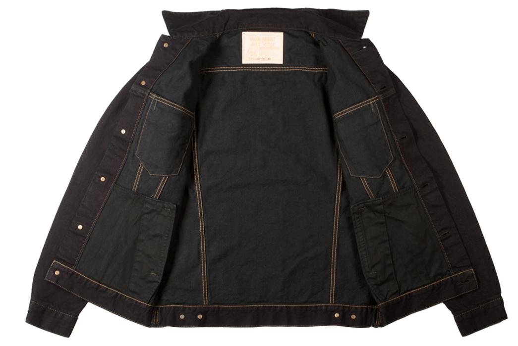 Iron-Heart's-Overdyed-Modified-Type-III-Jacket-Fades-to-Indigo-front-open