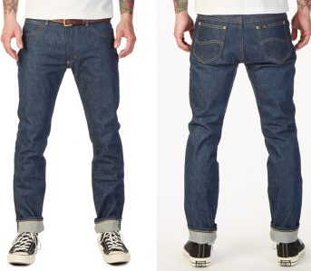 Lee-101-Releases-Their-Rider-Jean-in-15oz.-Natural-Indigo-Selvedge-Denim-front-back