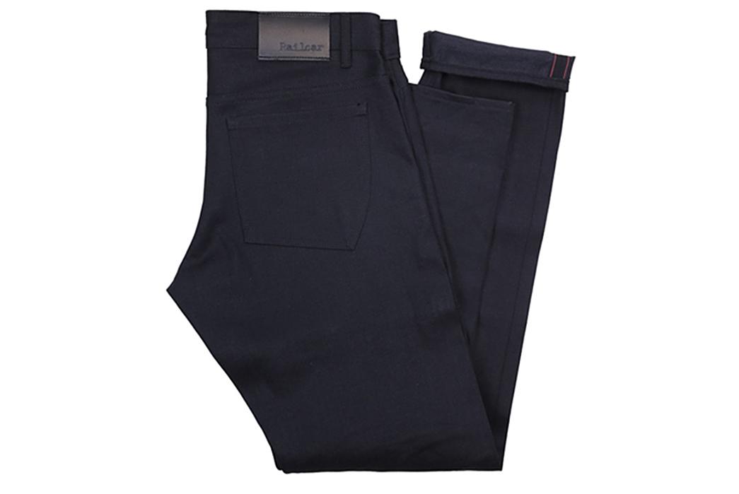 Railcar-Fine-Goods-X035-Double-Black-Selvedge-Flight-Trousers-folded