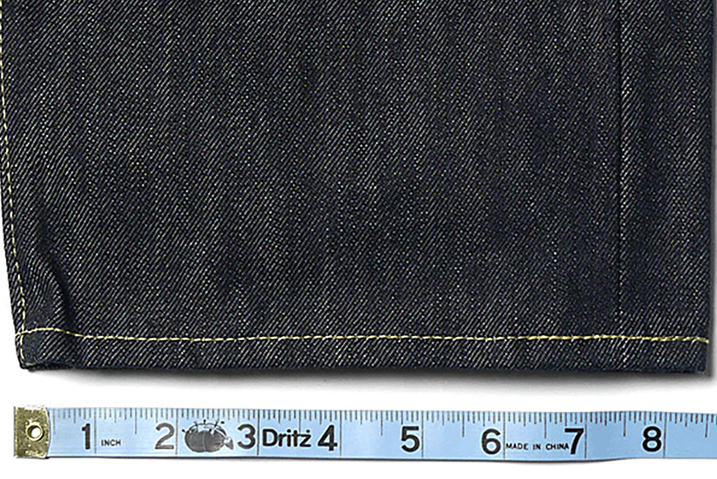 Rise,-Yoke,-and-Inseam---A-Raw-Denim-Anatomy-and-Terminology-Overview-leg-selvedge-with-measure