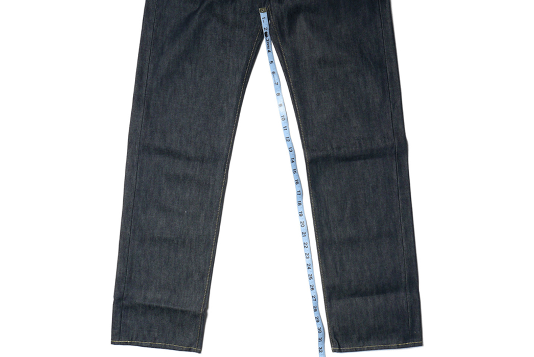 Rise,-Yoke,-and-Inseam---A-Raw-Denim-Anatomy-and-Terminology-Overview-leg-with-measure