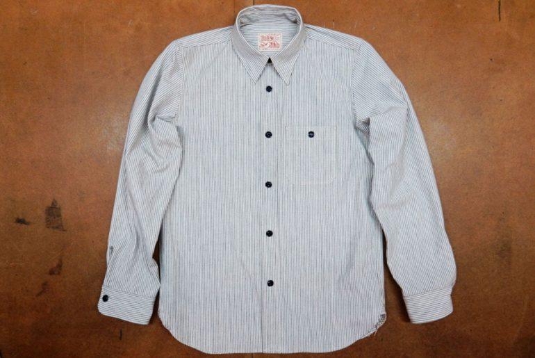 Roy-6oz.-Selvedge-Cotton-Chambray-Stripe-Shirt-front</a>