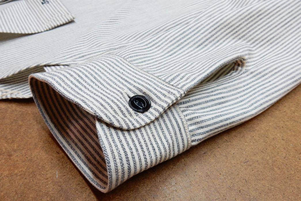 Roy-6oz.-Selvedge-Cotton-Chambray-Stripe-Shirt-sleeve