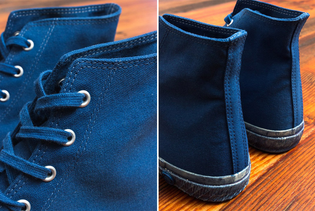 Shoes-Like-Pottery-Shifts-Into-Maximum-Overdye-With-Their-Natural-Indigo-High-Top-Sneakers-pair-front-side-top-back-side