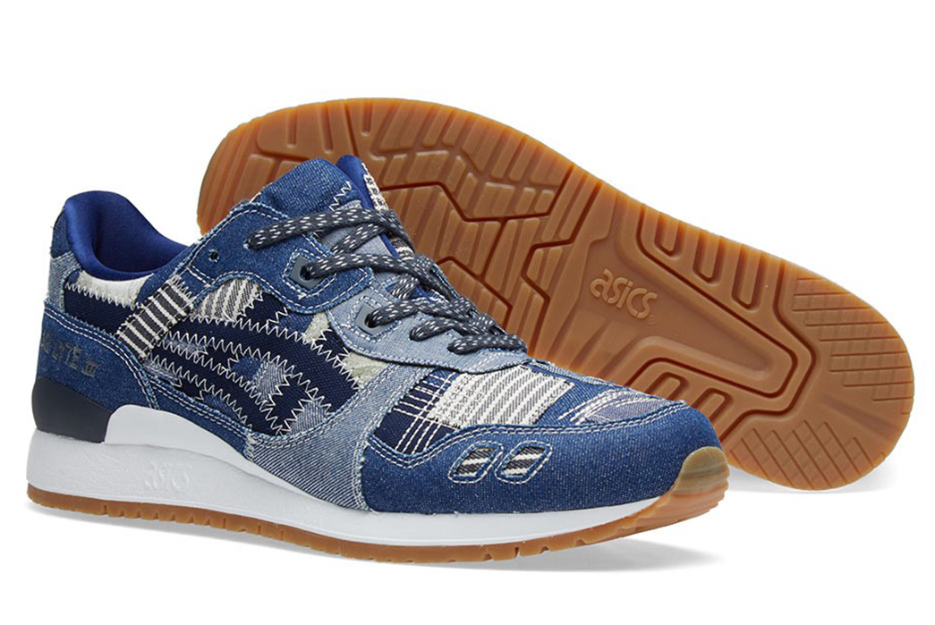 social-Asics-Borrows-from-Boro-for-Their-Latest-Gel-Lyte-III-Sneakers-pair-front-side-and-bottom