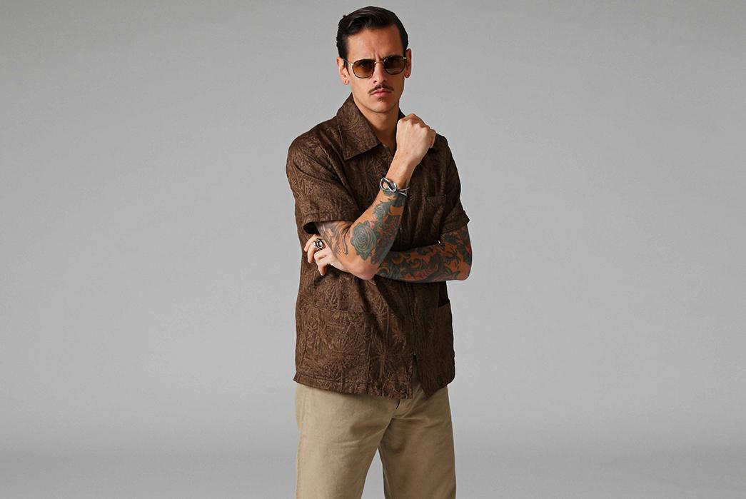 Stevenson-Overall-Co.-Releases-Their-Weekend-Warrior-Lookbook-brown-jacket-and-beige-pants