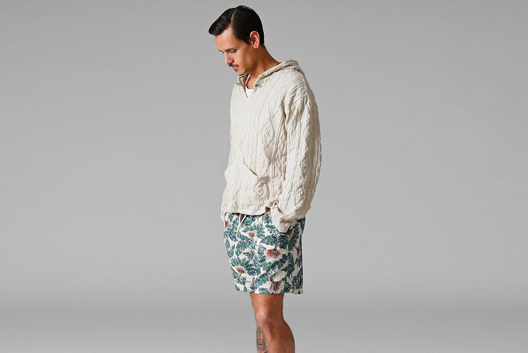 Stevenson-Overall-Co.-Releases-Their-Weekend-Warrior-Lookbook-white-shirt-and-short-pants
