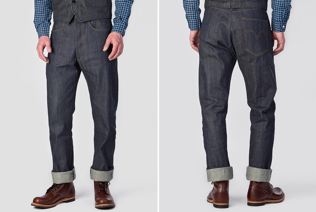 Summer-Weight-Raw-Denim-Jeans---Five-Plus-One-Plus-One---Levi's-Vintage-Clothing-1890-XX501-Jeans-Rigid-9Oz.