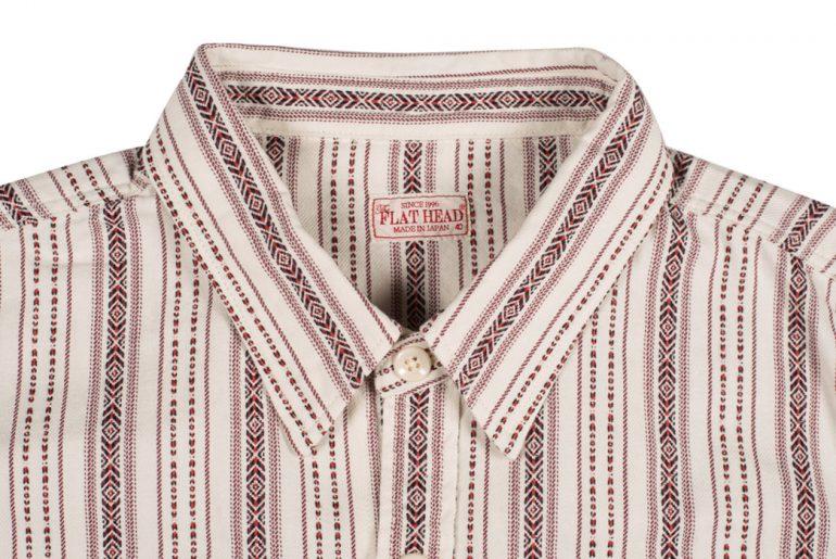 The-Flat-Head-Mystery-Train-Dobby-Stripe-Shirt-front-top-collar