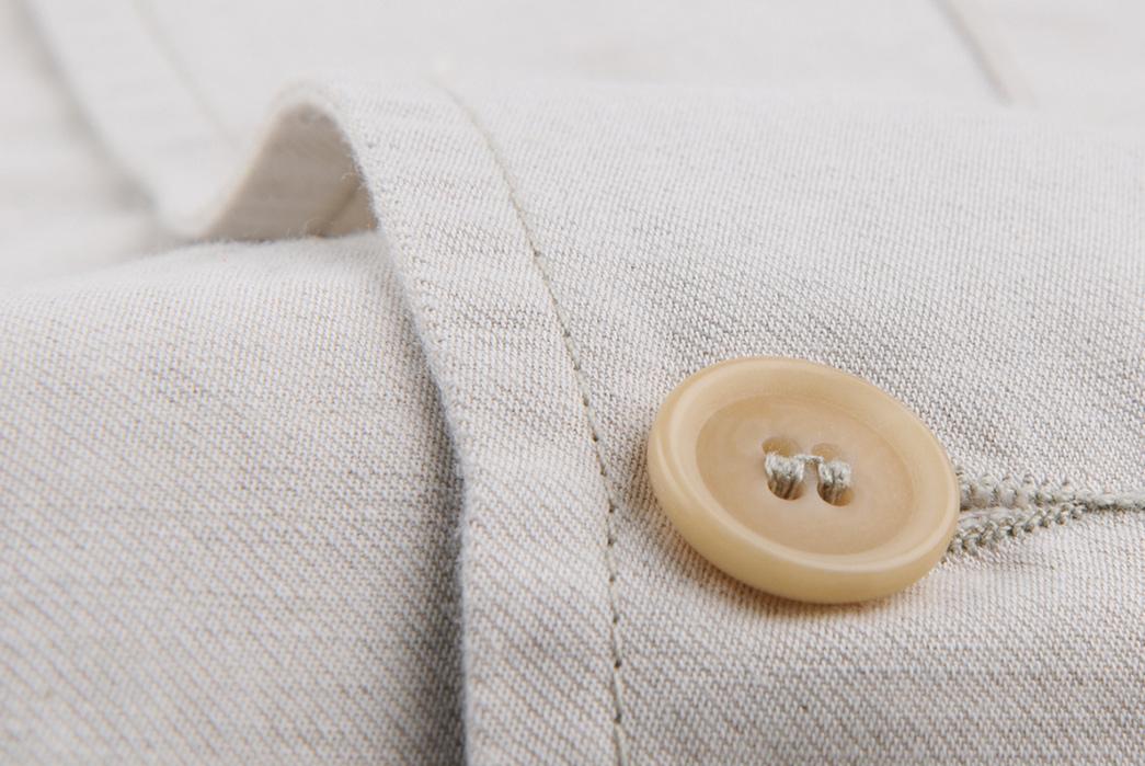 Vetra-Cotton-Linen-Twill-Nehru-Collar-Workwear-Jacket-front-button