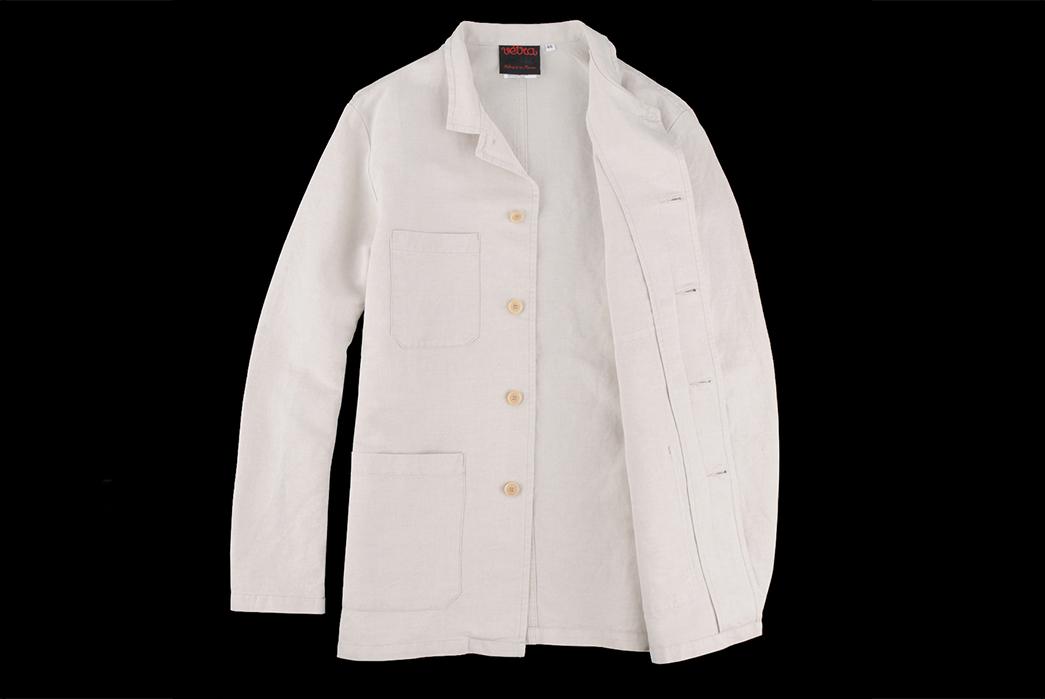 Vetra-Cotton-Linen-Twill-Nehru-Collar-Workwear-Jacket-front-open