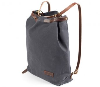 Wood-&-Faulk's-Waxed-Canvas-Shuttle-Pack-is-a-Simple-Twofer-Tote-Backpack-back-side