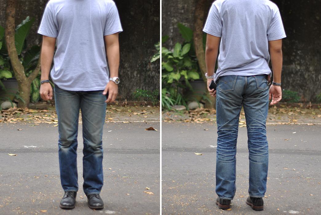 Fade-Friday---Oldblue-Co.-Indonesian-Selvedge-19-oz.-(16-Months,-1-Wash,-1-Soak)-model-front-back